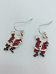 Lovely Father Christmas Alloy Women's Christmas Earrings