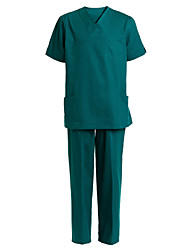 Medical Uniforms Men's Five Pockets V-neck Scrub Set