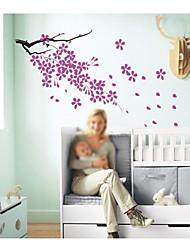 jiubai ™ Blumenmuster Hauptdekoration Wandaufkleber Wandtattoo