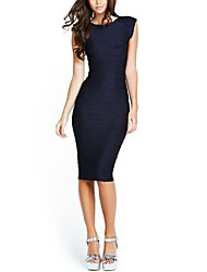 Women's Sexy O Neck Party Pencil Dress