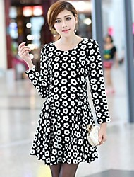 Women'S Dot Printing Slim Dress