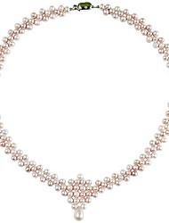 cadeia de pérolas de moda colar bib resina contas Declaração de funky para mulheres