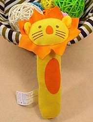 YSBD Baby Yellow Lion Shape Rattles Toys for Pram Crib Activity Soft Toys