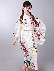 Women's Print Japan Style Kimono Dress