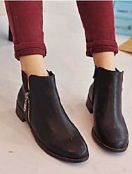Women's Shoes Round Toe Flat Heel Ankle Boots