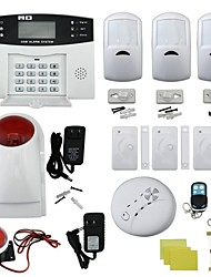 Quad-Band GSM Home Burglar Security Alarm System w/ Detector Sensor Kit / Remote Control