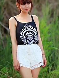 Women's Chiffon Tiger Geometry Pattern Camisole Tank Top