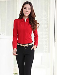 Women's Turtle Neck Solid Color Slim Long Sleeve Shirts