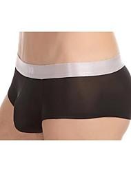 Men's Sexy Ice Silk Silver Edge Belt Small Boxer Underwear