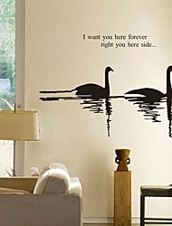 Wall Stickers Wall Decals, Modern Mandarin ducks playing in the water PVC Wall Stickers