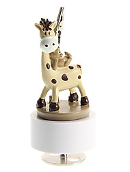 Fawn Model Revolving Music Box for Name Card Holder Toys
