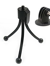 Portable Mini Spring Tripod Bracket with Adaptor for GoPro Hero 1/2/3/3+