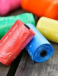 biodégradable chien sac poubelle sac de merde des déchets multicolore pour chiens chats animaux (couleur aléatoire)