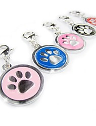 Sliver Paw Print Tag Accessory for Collars for Pets Dogs(Assorted Colors)