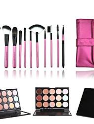 11 Makeup Brushes Set Goat Hair / Nylon / Pony / Synthetic Hair / Others / Horse Face / Lip / Eye Others