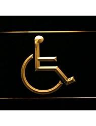 I1048 handicap para personas minusválidas neón despliegue de señal de luz