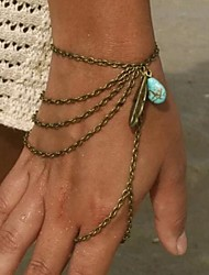 Women's Fashion Vintage Style Artificial Stone Tassel Even the Refers to the Bracelet
