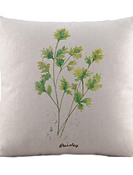 teste padrão das folhas de algodão / linho fronha decorativo