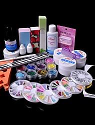 36pcs Glitter UV Gel Reiniger Primer Nail-Art-Kit-Set