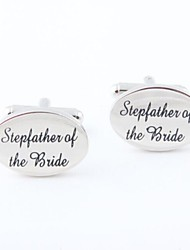 "Groom/Groomsman ""Stepfather Of The Bride"" Brass Cufflinks"