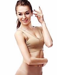 à double pad de ceinture de soutien-gorge sans couture couche dentelle sans décoration sport gilet ny100 de la peau de sous-vêtements