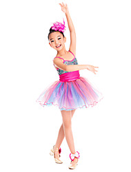 Dance Accessories Headpieces Children's Training Feathers Flower(s) Peach Performance Spring, Fall, Winter, Summer