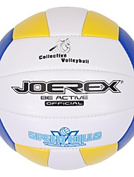 joerex® 5 # machine pvc volley-ball cousu couleurs assorties rouge jaune