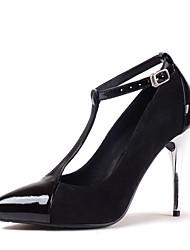 Bombas talón zapatos t-correa de las mujeres zapatos de tacón de aguja de oficina / partido más colores disponibles