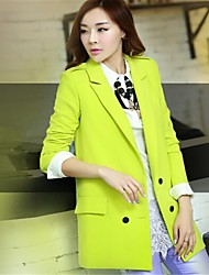 Women's Candy Suit Collar Top Fashion Long Sleeve Coat