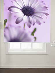 Botanic Style Purple Flower Roller Shade