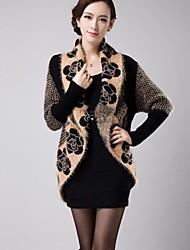 Women's Rabbit Wool Blends Loose Knitwear Midi Coat