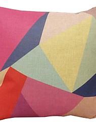 "Createforlife® 18"" Retro Chopped Kaleidoscope Cotton Linen Square Decorative Pillow"