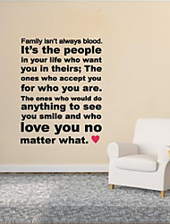 JiuBai™  Family Quote Word Art Wall Sticker Wall Decal