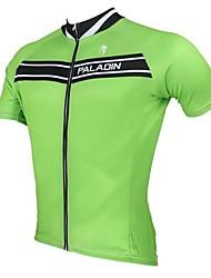Pure Color dos homens Primavera Outono de manga curta de poliéster respirável ciclismo jersey-verde