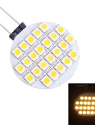 G4 1.5W 110LM 3500K 24x3528 Warm White LED Light Bulb(DC 12V)