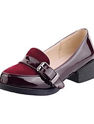 sapatos femininos bombas toe calcanhar chhunky apontou sapatos mais cores disponíveis