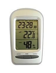 "qf665 multifunções 2.8 ""tela de lcd termômetro higrômetro - prata + cinza"