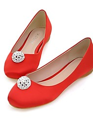 Women's Shoes Comfort Round Toe Flat Heel Satin Flats Shoes More Colors available