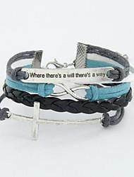 européen bracelet en corde tressée de mode de style