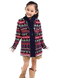 Girl's Fashion Joker Elegant Horn Button Retro Sweater