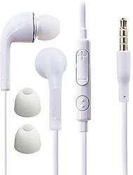 df wit blauwe plaat 3,5 mm in-ear oortelefoon met lijn controle voor samsung s4 / s5 alle Andriod telefoons