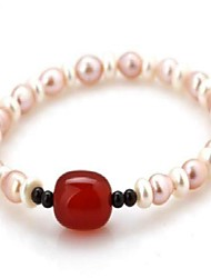 Women's Fashion Trends Cute Retro Classic Pearl Elastic Bracelet