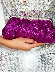 Women Satin Event/Party Evening Bag Purple / Blue / Gold / Brown / Red / Silver / Black / Burgundy / Fuchsia