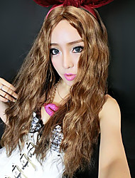 Bunny Girl Long Curly Hair Brown 55cm Women's Halloween Party Wig