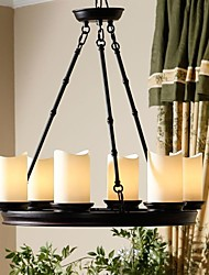 MAX 40W Chandelier ,  Rustic/Lodge Painting Feature for Candle Style MetalLiving Room / Bedroom / Dining Room / Study Room/Office / Kids