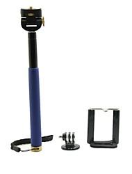 acero inoxidable universal de monopie portátil con trípode para la cámara / GoPro / digital de teléfono celular héroe 3 + / 3/2 (colores