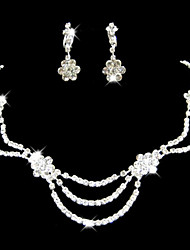 Jewelry Set Women's Anniversary / Wedding / Engagement / Birthday / Gift / Party / Special Occasion Jewelry Sets Rhinestone Rhinestone