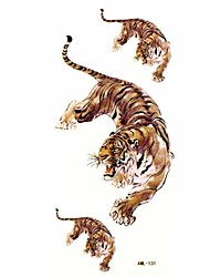 Waterproof Tiger Temporary Tattoo Sticker Tattoos Sample Mold for Body Art(18.5cm*8.5cm)