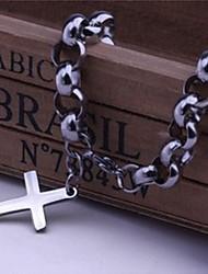 herenmode persoonlijkheid titanium stalen handmatige kruis armbanden