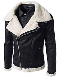 Джордж мужской внешней торговли оптовая корейский моде тонкая шерстяная кожаное пальто